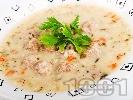Рецепта Супа топчета с телешка кайма с ориз
